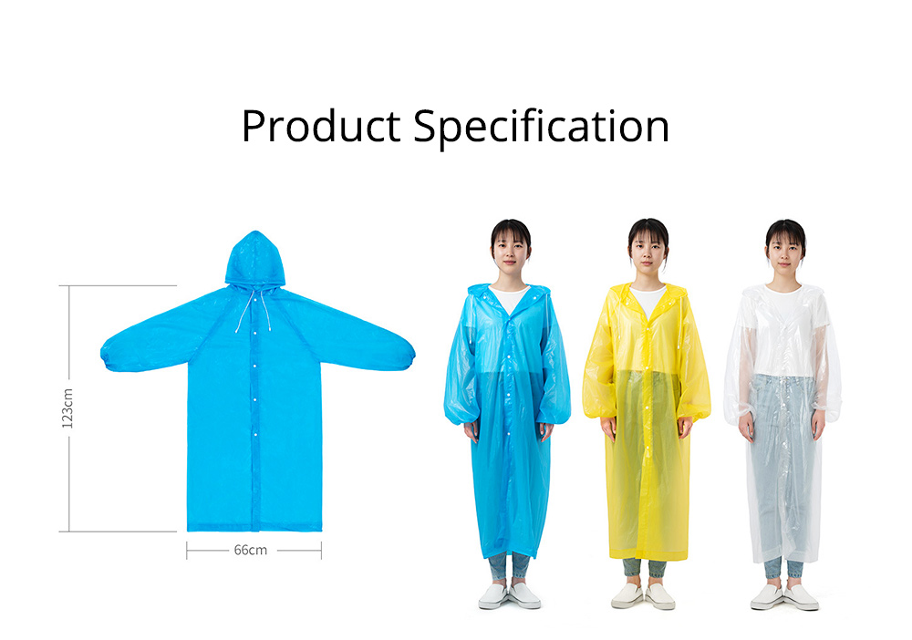 Portable Disposable Slim Raincoat Ponchos for Adults Teens, Transparent Raincoat for Camping Hiking Outdoors 5