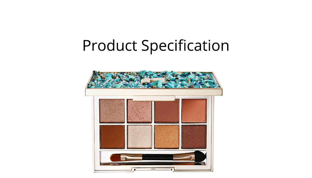 8 Colors Eyeshadow Palette, Matte and Glitter Eyeshadow Palette, Highly Pigmented Makeup Palette, Beauty Cosmetics 6