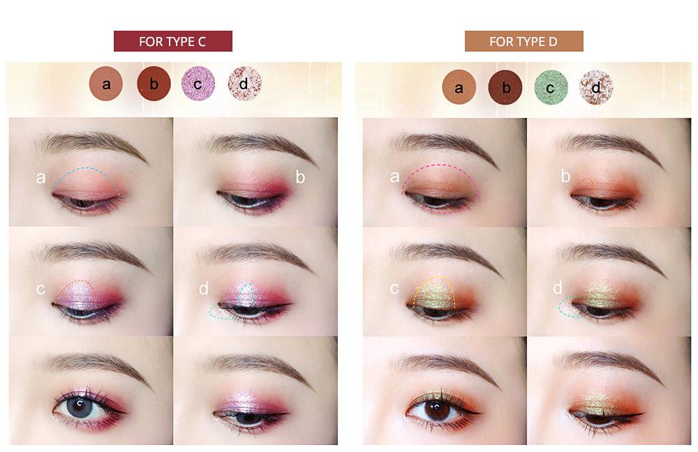 9 Colors Eyeshadow, Palette Glitter Velvet Texture Mixed Eye Makeup, Long Lasting Eye Shadow Tray Best Gift for Women 3