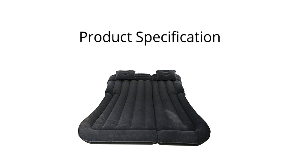 Rear Car Inflatable Bed, Inflatable Travel Car Mattress Air Bed Back Seat Sleep Rest Mat with Pillow 6