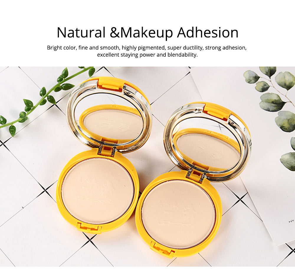 Natural Tone Foundation, Super Blendable Powder, Soft Breathable Concealer wit Dry Wet Use 5