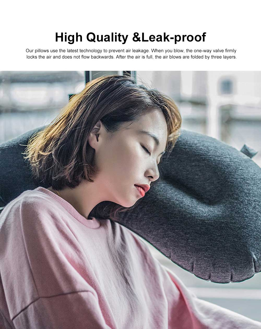 Eggplant Inflatable Pillow, Blowing Creative Lightweight Portable Headrest, Camp Pillow for Outdoor Travel Airplane Camping Beach 1