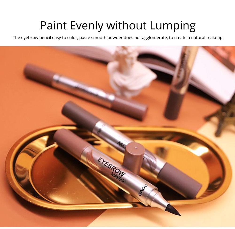 Dye Cream Eyebrow, Mark Pen Nib Eyebrow Pencil, Waterproof Eyebrow Pencil with Brush 2 Colors Available 5