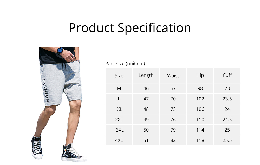 Men Summer Short Pants with Pockets, Causal Beach Shorts with Elastic Waist Drawstring, Lightweight Loose Shorts 6