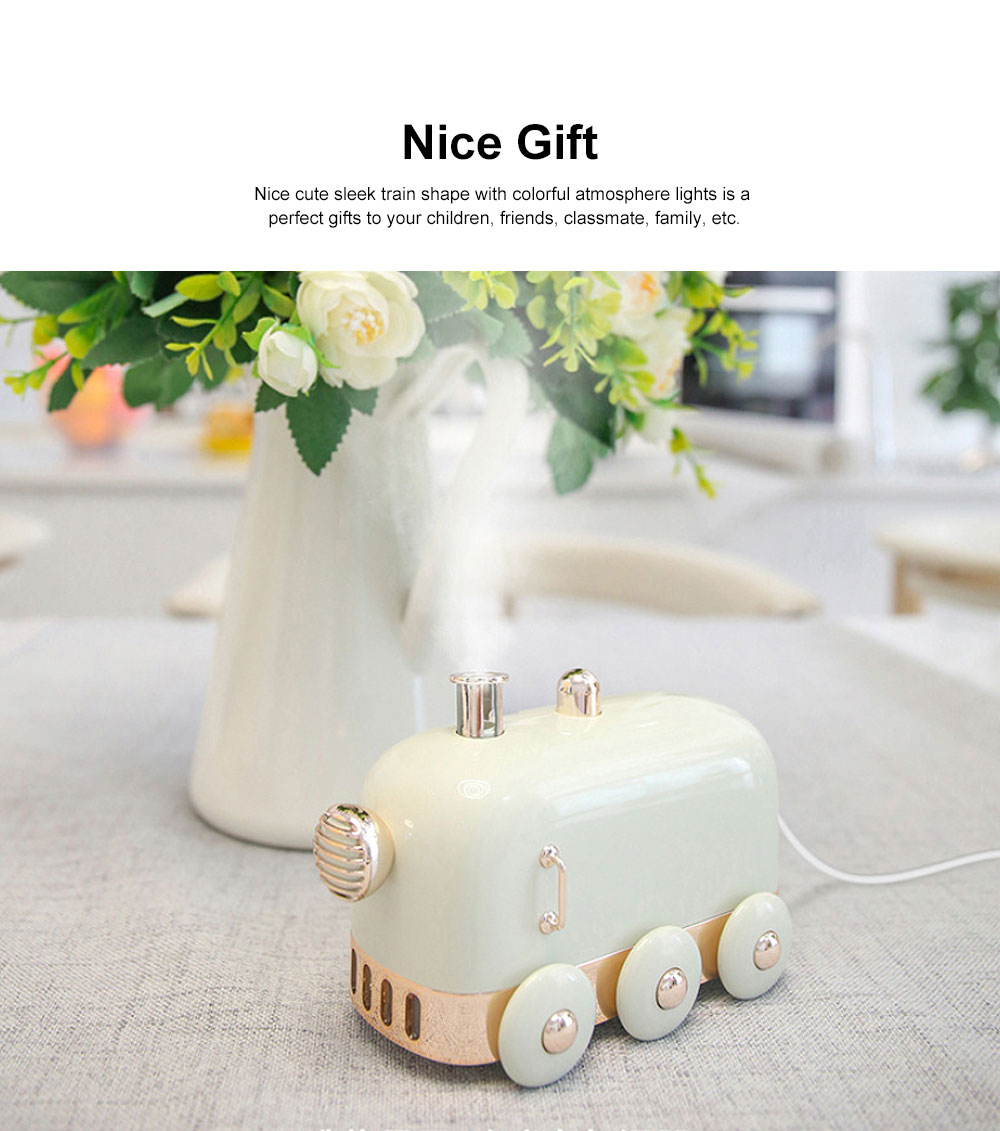Min Train Humidifiers Cool Mist Summer Mute Diffuser with Color Change Nightlight for Office Home Bedroom Living Room 1