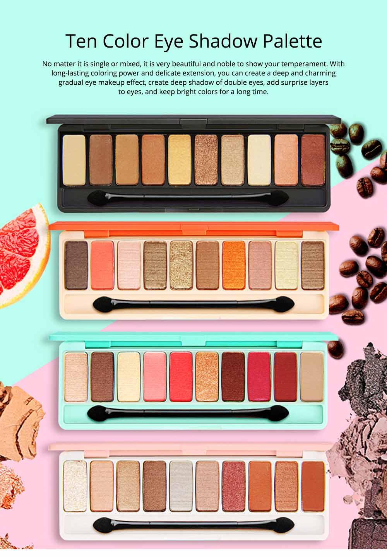 NOVO Ten Color Eye Shadow Palette, Long Lasting Eyeshadow Eye Shadow Kit, Girls Eye Makeup Beauty 0