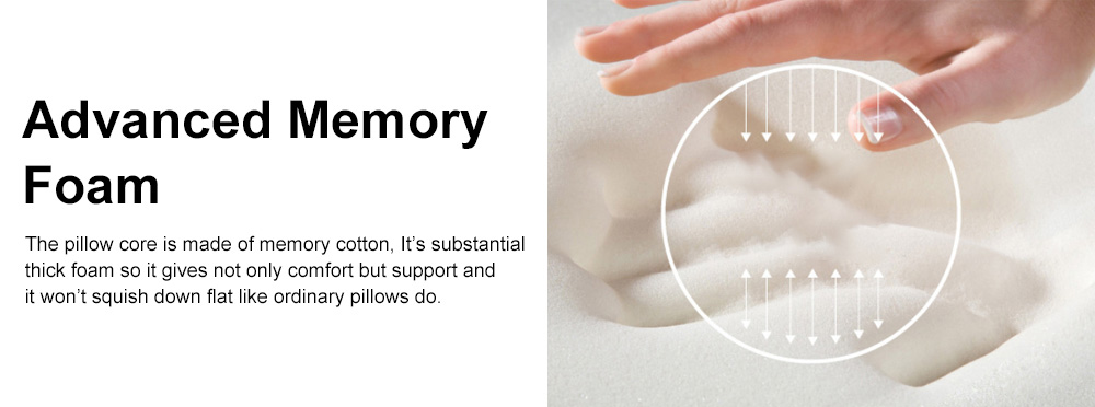 Memory Foam U-Shaped Pillow Comfortable Breathable Neck Pillow Travel Pillow for Home Car Airplane 2