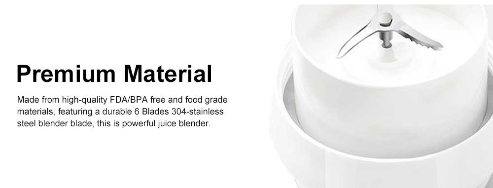 Portable Juicer Cup 6 in 1 Multifunctional Fruit Mixing Machine Blender Mini Juice Mixer with Powerful Motor 5