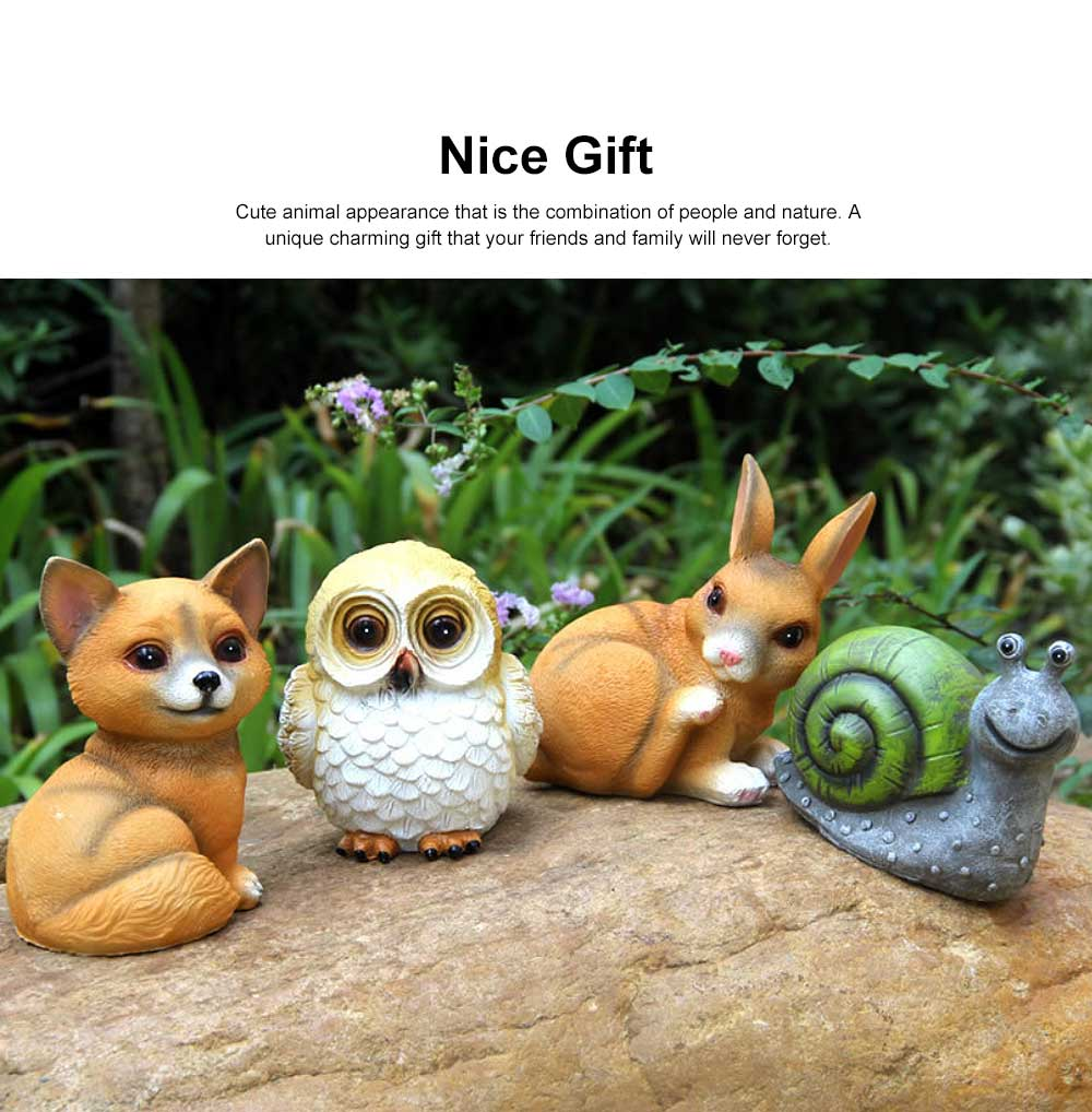 Solar Garden Light Animal LED Lamp Waterproof Outdoor Lights Ornament for Garden, Lawn, Aisle, Porch, Courtyard or Tent 1