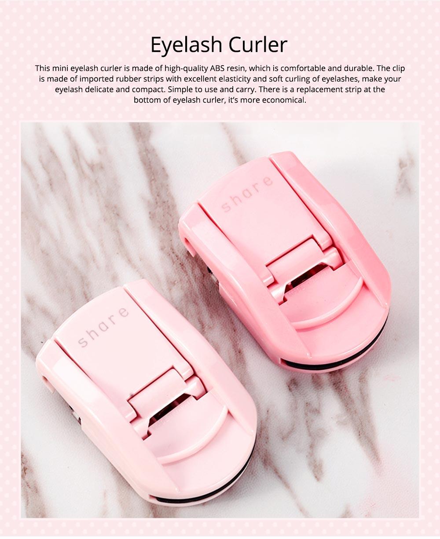 Nature Curling Portable Eyelash Curler, Eyelash Helper Lightweight Easy Carrying Makeup Tools 0