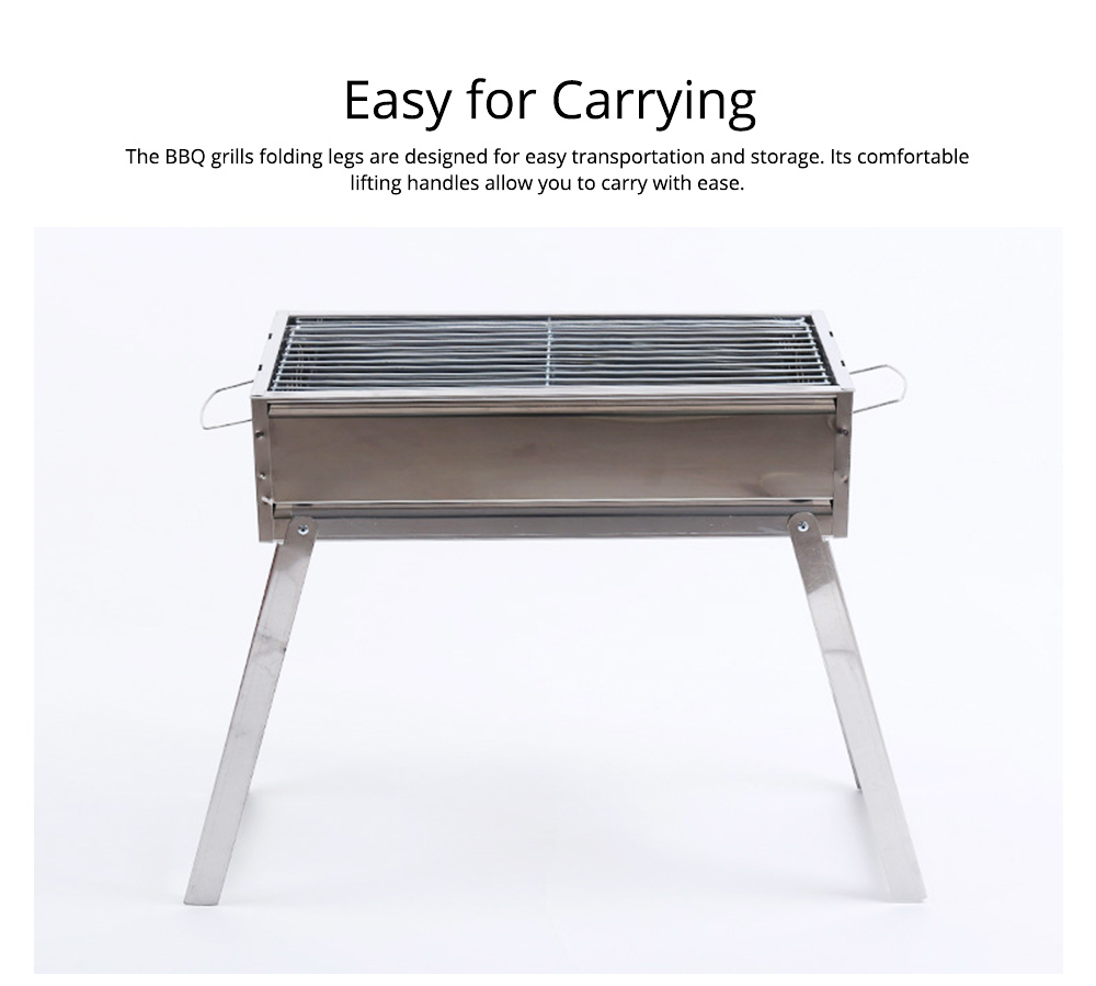 Barbecue Charcoal Grill Stainless Steel Portable Folding BBQ Tool Kits for Outdoor Camping Travel Park Beach Wild 6