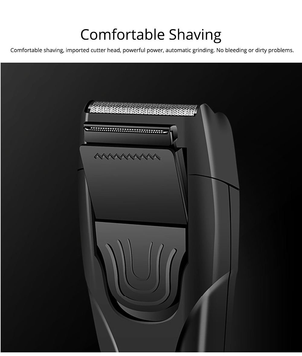 Men's Razor Reciprocating Double Net Shaver Charging Beard Stainless Steel Knife Best Gifts for Men 1