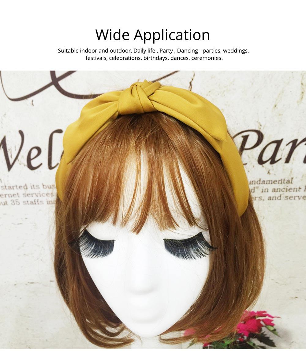 Bow Knot Headbands Pure Color Elastic Head Wrap Twist Knot Hairbands Cross Wide Headbands for Women 1