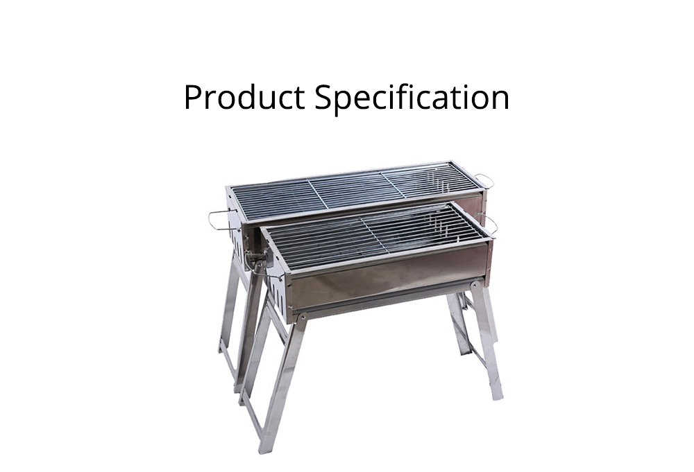 Barbecue Charcoal Grill Stainless Steel Portable Folding BBQ Tool Kits for Outdoor Camping Travel Park Beach Wild 7