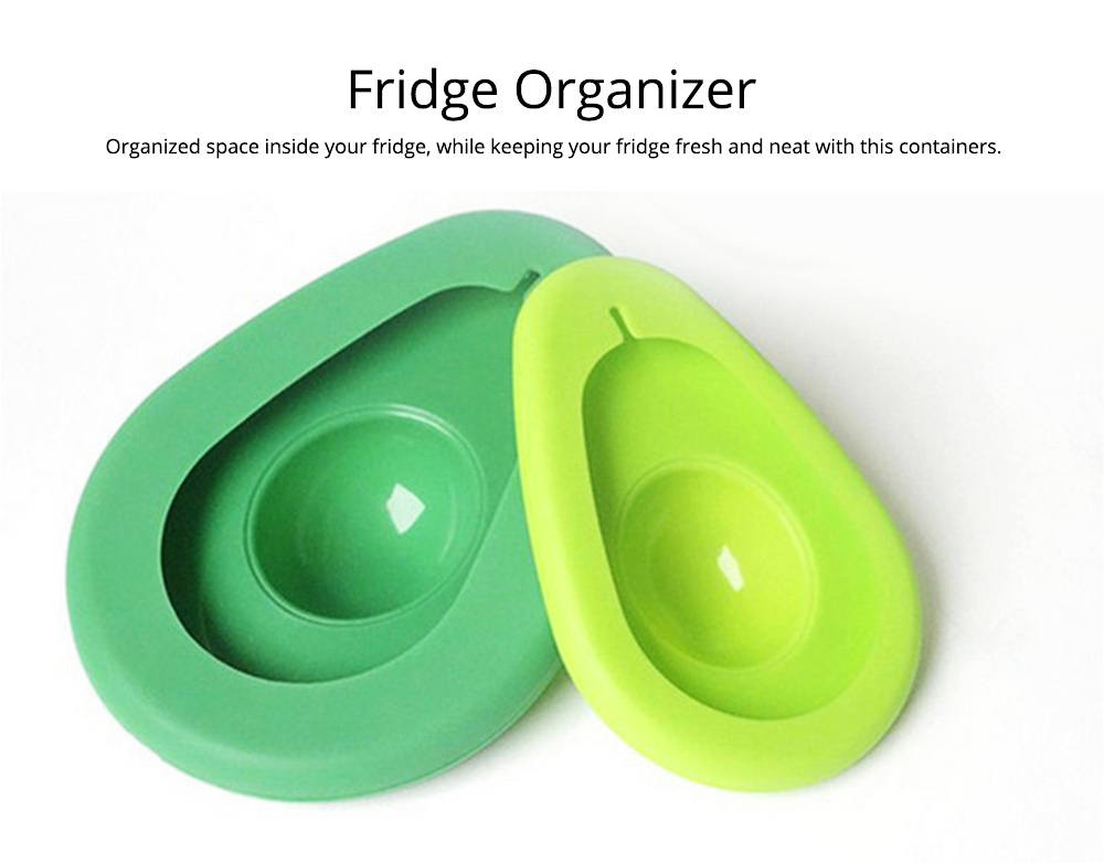 2Pcs Avocado Huggers Food Grade Silicone Food Huggers Fridge Organizer Reusable Avocado Holder 4