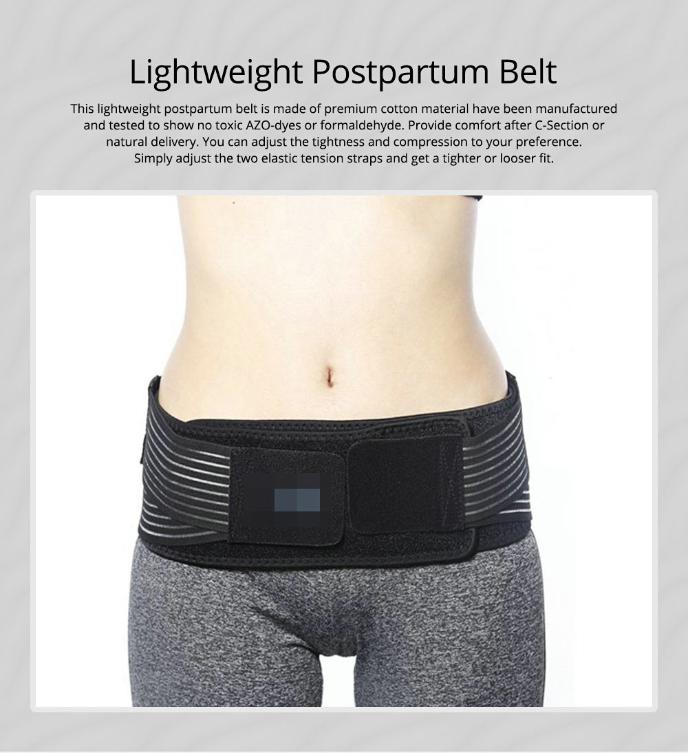 Lightweight Postpartum Belt Pelvic Recovery Band Belly Wrap Hip Correction & Body Shaper for Postpartum Recovery 0