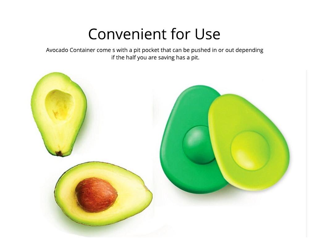2Pcs Avocado Huggers Food Grade Silicone Food Huggers Fridge Organizer Reusable Avocado Holder 1