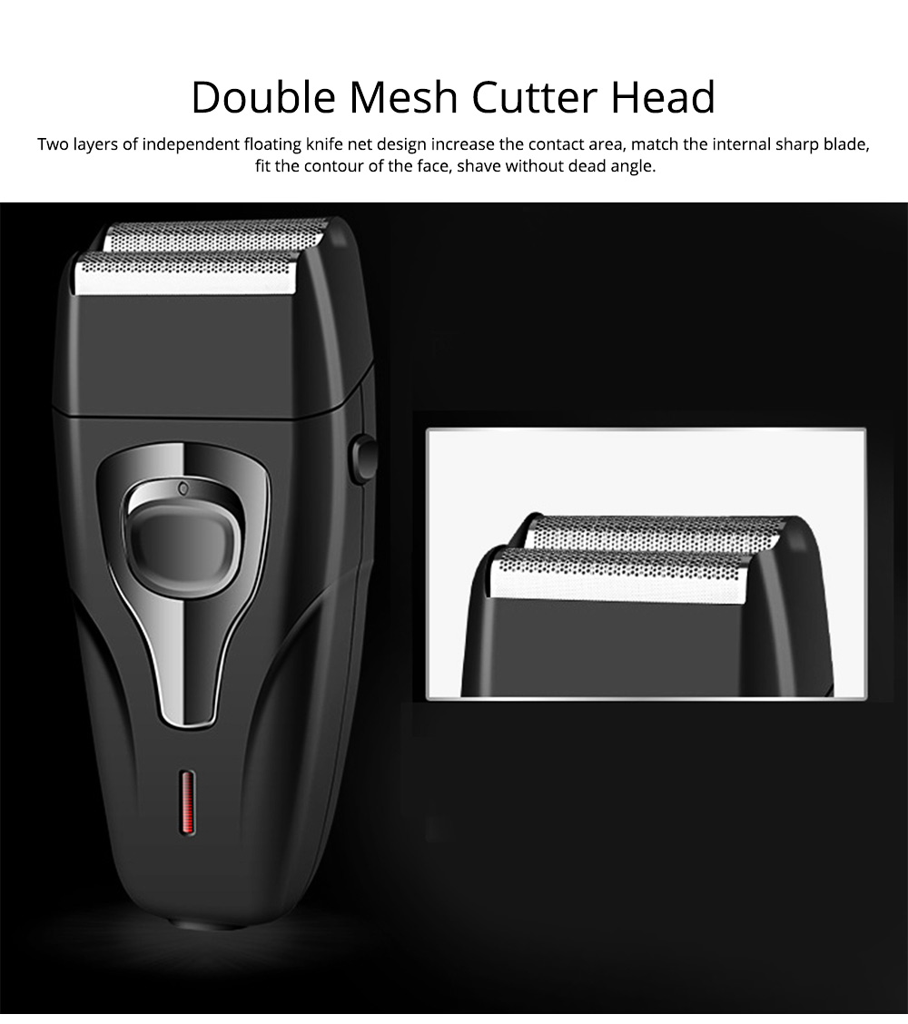 Men's Razor Reciprocating Double Net Shaver Charging Beard Stainless Steel Knife Best Gifts for Men 2