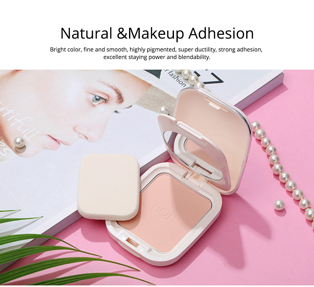 Oil Control Concealer Natural Tone Powder Foundation Soft Breathable Cosmetics Velvet Matte Pressed Powder Foundation 6