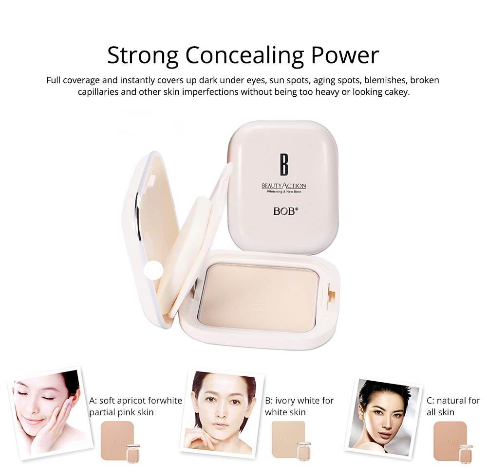 Oil Control Concealer Natural Tone Powder Foundation Soft Breathable Cosmetics Velvet Matte Pressed Powder Foundation 1
