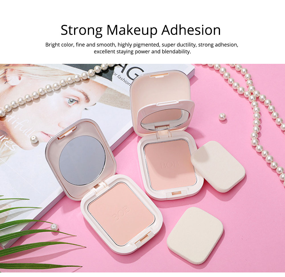 Oil Control Concealer Natural Tone Powder Foundation Soft Breathable Cosmetics Velvet Matte Pressed Powder Foundation 5