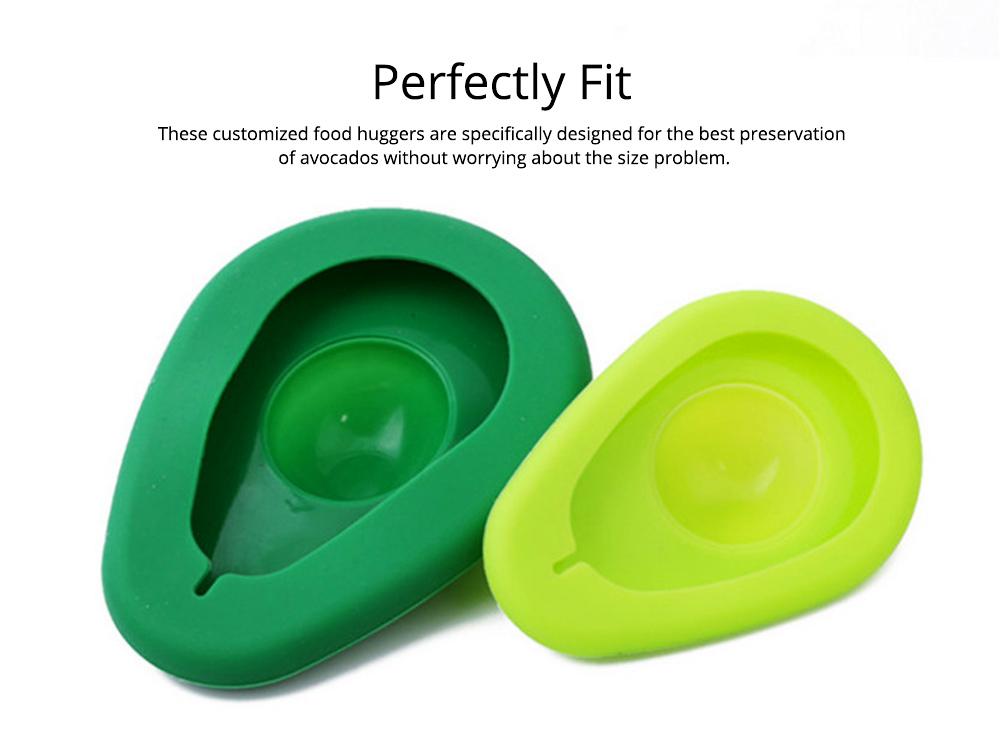 2Pcs Avocado Huggers Food Grade Silicone Food Huggers Fridge Organizer Reusable Avocado Holder 5