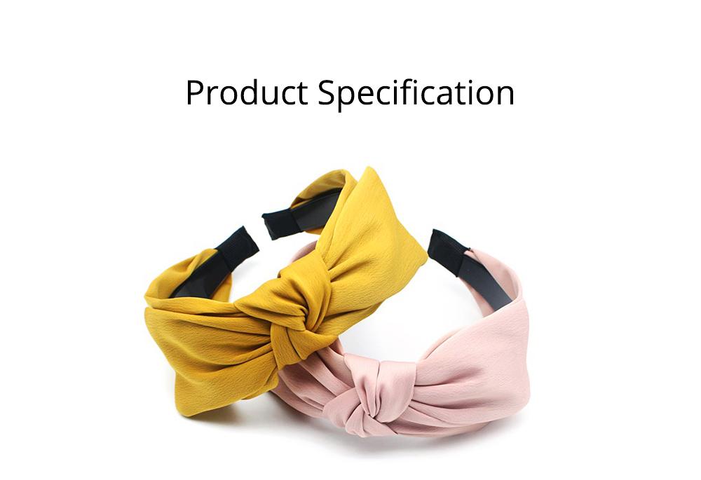 Bow Knot Headbands Pure Color Elastic Head Wrap Twist Knot Hairbands Cross Wide Headbands for Women 6