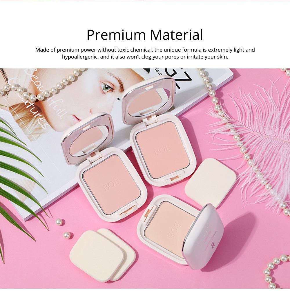 Oil Control Concealer Natural Tone Powder Foundation Soft Breathable Cosmetics Velvet Matte Pressed Powder Foundation 3