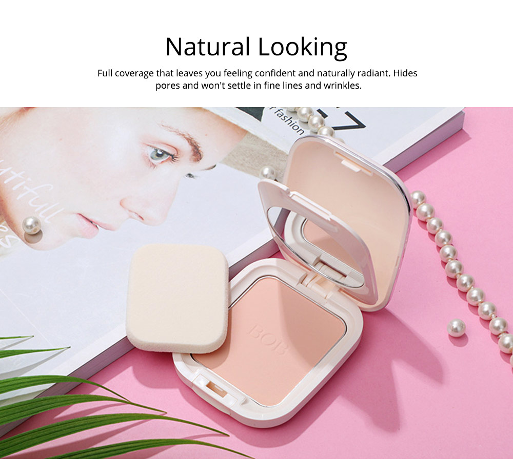 Oil Control Concealer Natural Tone Powder Foundation Soft Breathable Cosmetics Velvet Matte Pressed Powder Foundation 2