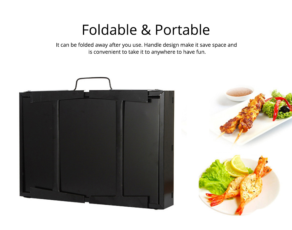 Portable Barbecue Grill Lightweight Charcoal Grill Foldable Premium BBQ Grill for Outdoor Camping Travel Park Beach Wild 1