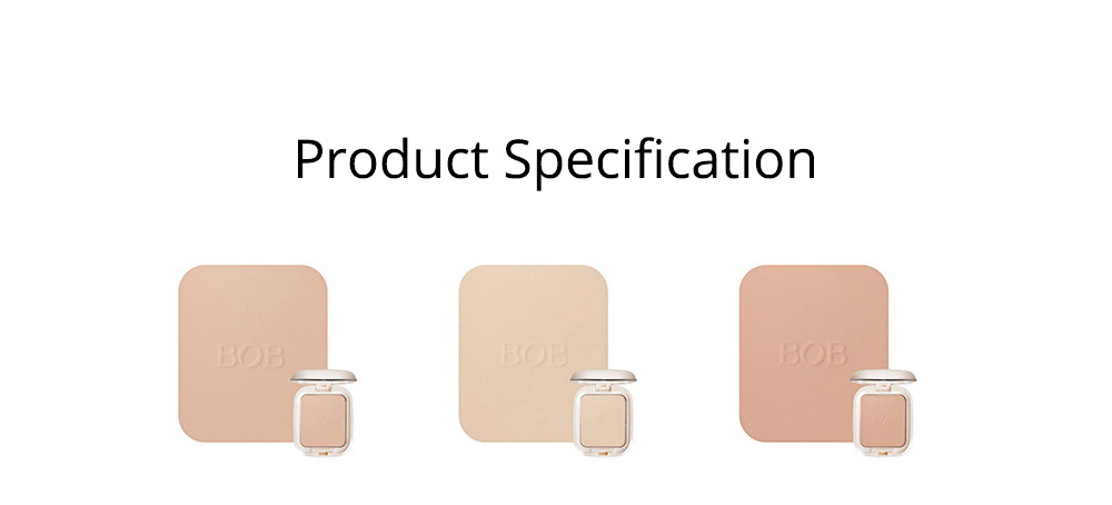 Oil Control Concealer Natural Tone Powder Foundation Soft Breathable Cosmetics Velvet Matte Pressed Powder Foundation 8