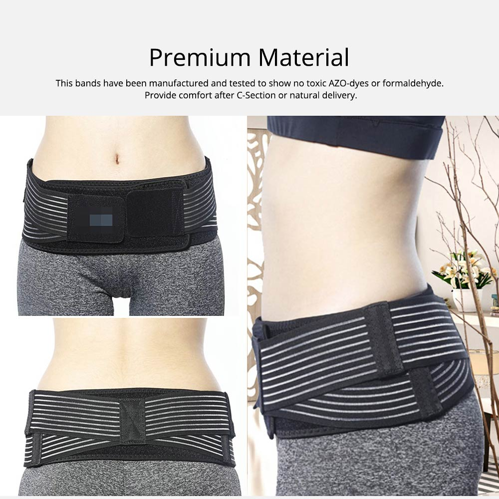 Lightweight Postpartum Belt Pelvic Recovery Band Belly Wrap Hip Correction & Body Shaper for Postpartum Recovery 3