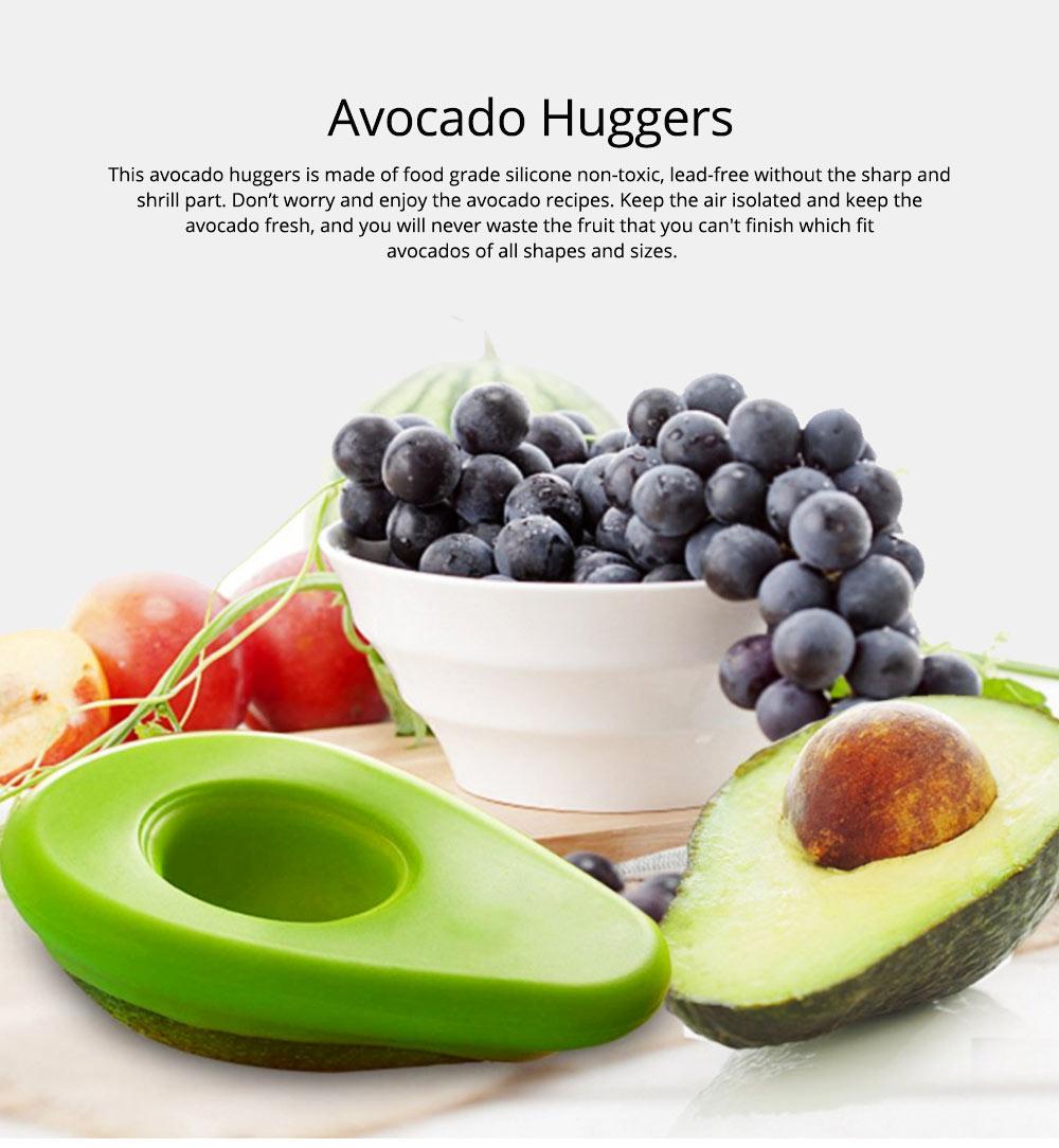 2Pcs Avocado Huggers Food Grade Silicone Food Huggers Fridge Organizer Reusable Avocado Holder 0