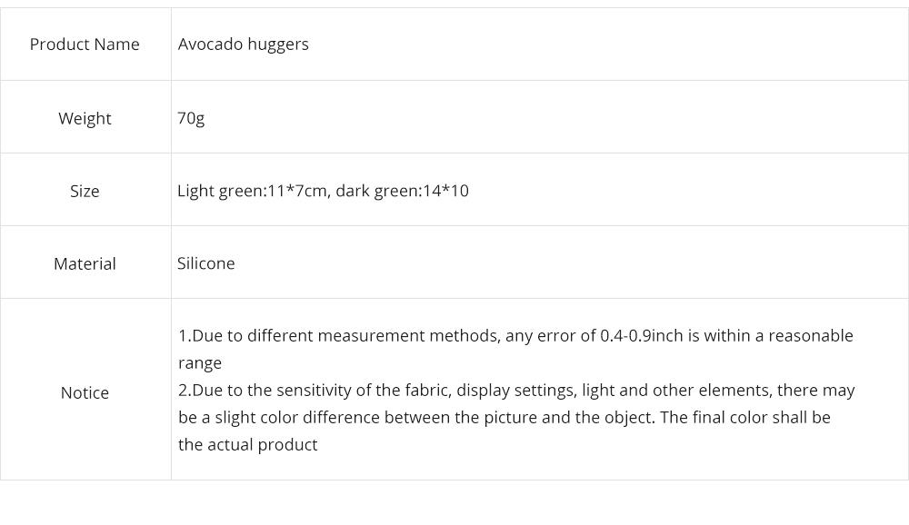 2Pcs Avocado Huggers Food Grade Silicone Food Huggers Fridge Organizer Reusable Avocado Holder 7