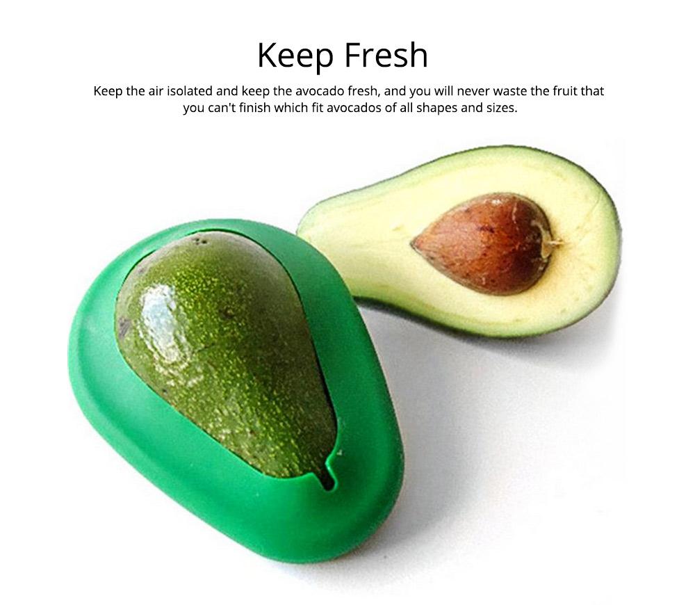 2Pcs Avocado Huggers Food Grade Silicone Food Huggers Fridge Organizer Reusable Avocado Holder 2