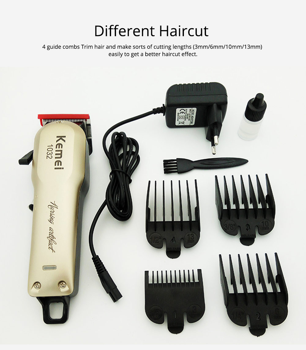 Men Hair Cutting Kit Rechargeable Electric Precision Trimmer Grooming Kit Shaver Hair Styling Shears Best Haircut Kit for Men 4