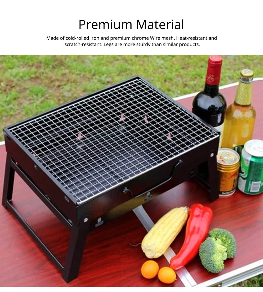 Portable Barbecue Grill Lightweight Charcoal Grill Foldable Premium BBQ Grill for Outdoor Camping Travel Park Beach Wild 3