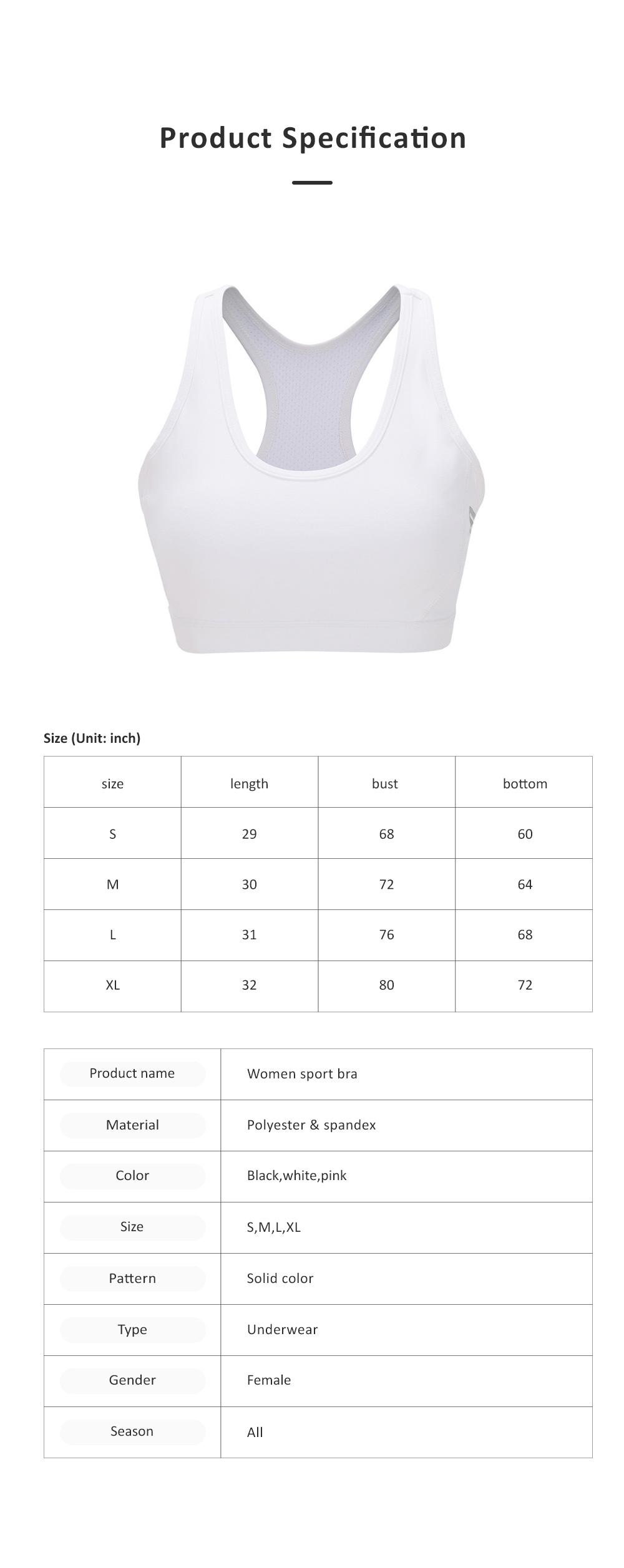 Women Sport Bra Special Racerback Underwear with Elastic Shoulder Strap Side Pocket Sport Wear for Gym 6