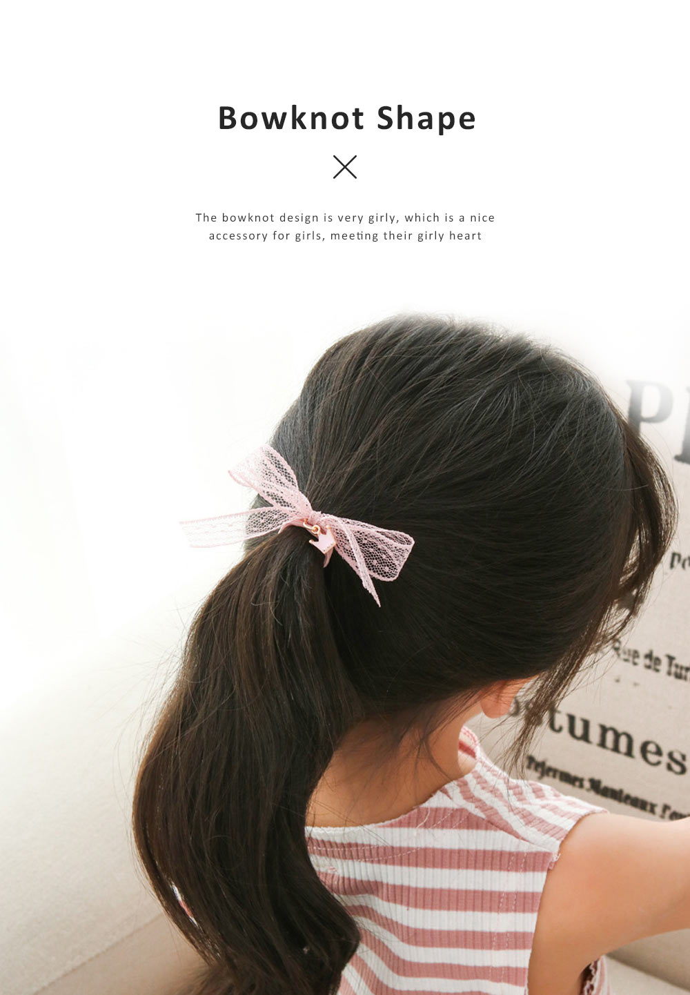 8 Pieces Hair Band Set Adorable Bowknot Elastic Hair Ties Cute Girly Hair Accessories for Teens Girls 3