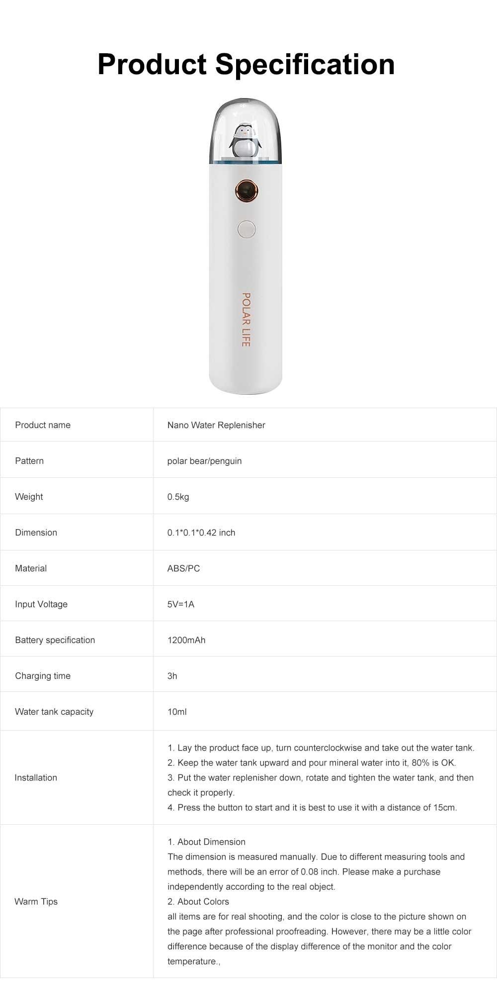 Mini Face Humidifier Nano Spray Hydrator USB Rechargeable Portable Facial Sprayer Machine for Face Skin Caring 7