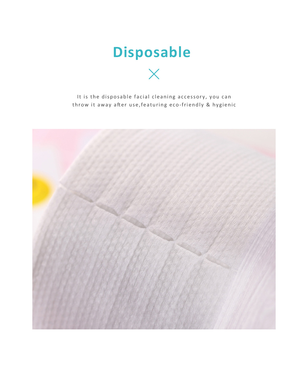 Dual Use Dry Wet Face Towel Make Up Cleanser Disposable Facial Cleaning Tissue Natural Cotton Soft Towel Hygienic Makeup Accessory 3