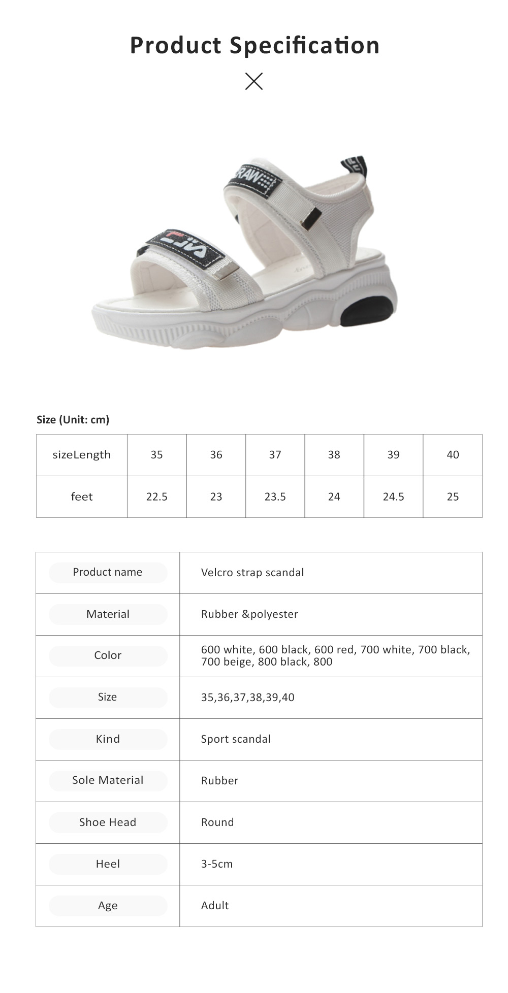 Women Scandal Elastic Adjustable Velcro Strap Shoe Breathable Athletic Open Toe Shoe Bear Bottom for Walking Running 6