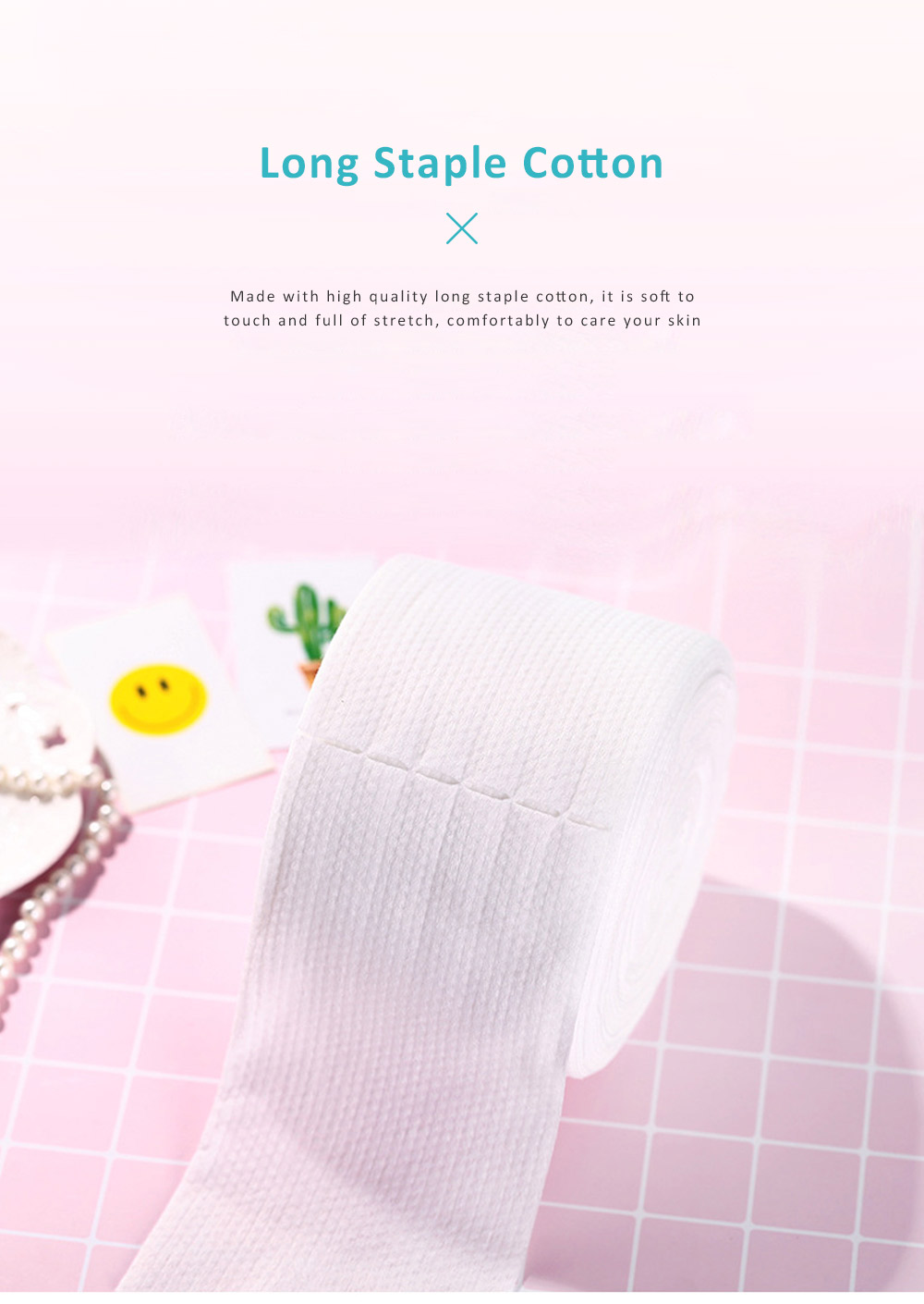 Dual Use Dry Wet Face Towel Make Up Cleanser Disposable Facial Cleaning Tissue Natural Cotton Soft Towel Hygienic Makeup Accessory 4