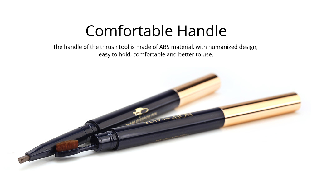 Delicate Eyebrow Pencil Deep Sea Fish Oil Luxury Automatic Rotation Double-headed Suit with Brow Knife 5
