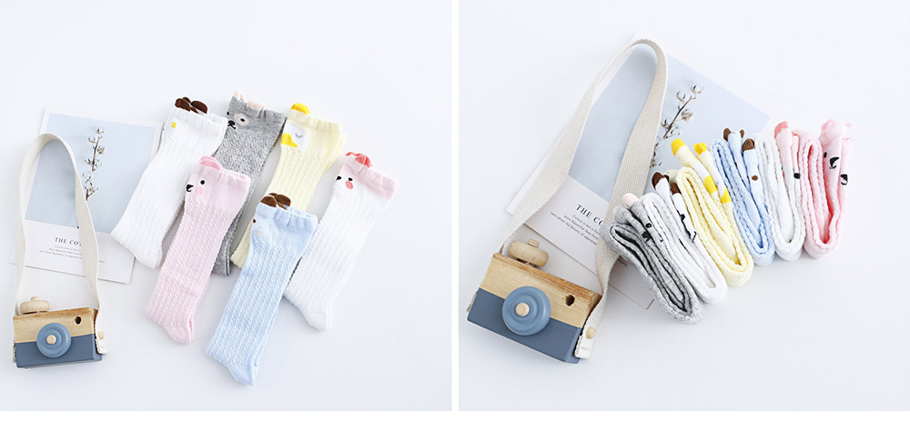 Children's Anti-mosquito Stockings for Baby All Cotton Mesh Three-dimensional Cartoon Leggings Knee High Socks Thin Spring Summer 6