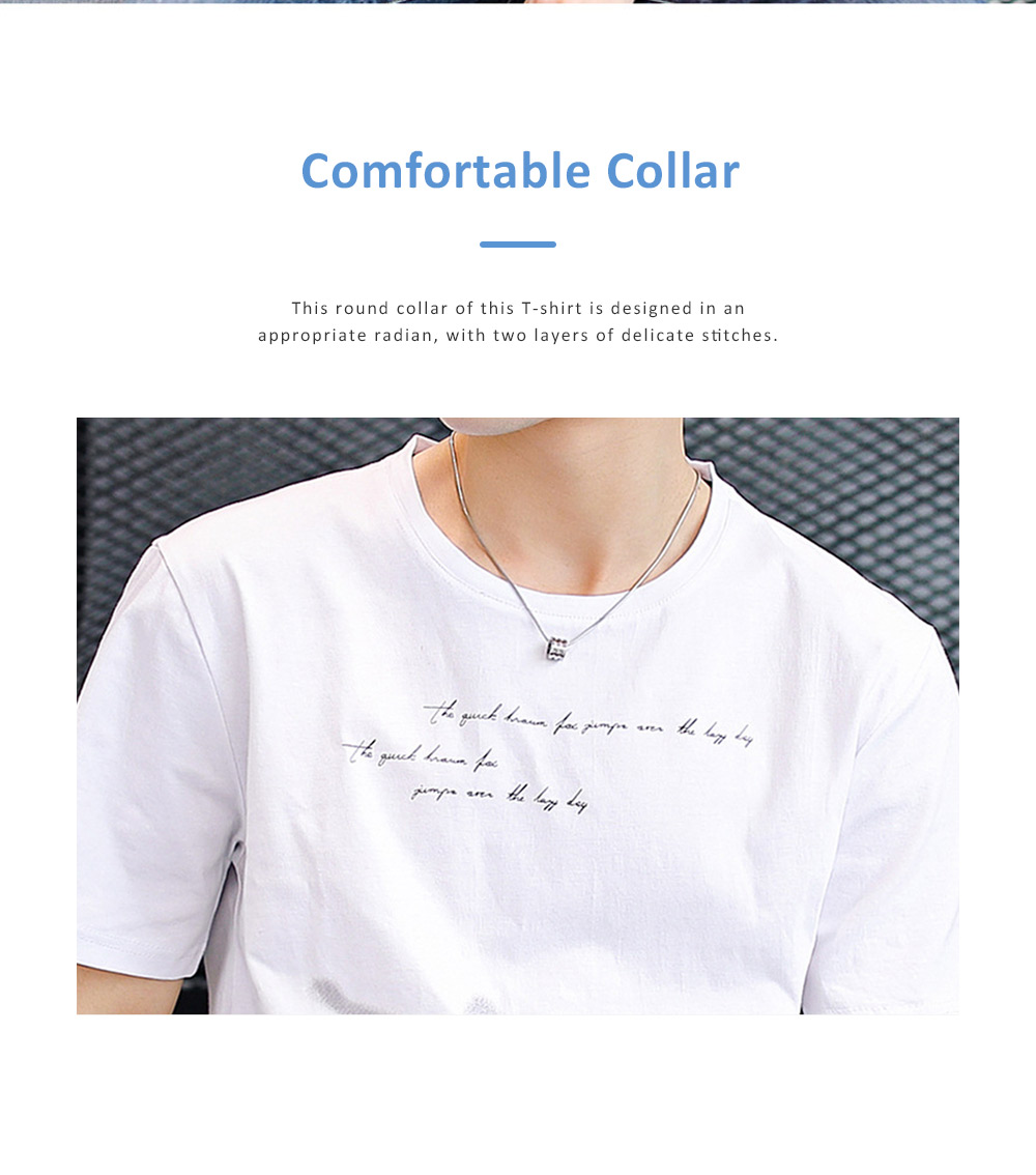 2019 New Style Casual Men's Short Sleeve T-shirt with Round Collar, Fashionable and Durable Cotton Material Top 4