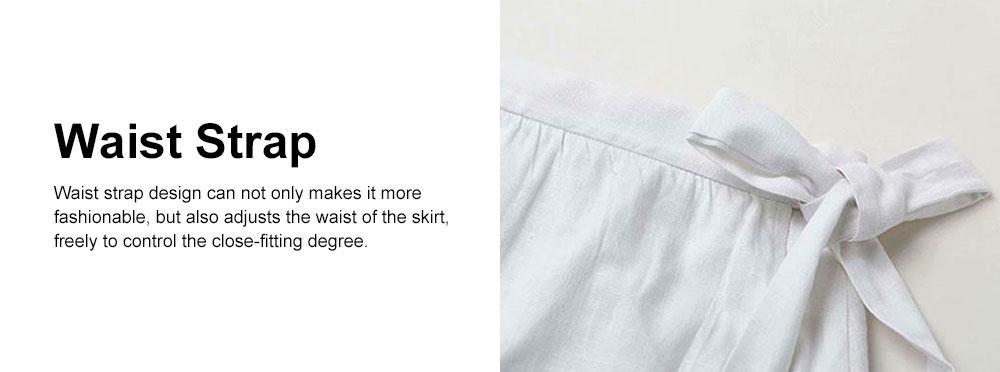 Vest Skirt Set for Women in Summer, 2 Pcs Short Square Neckline Vest and Midiskirt with Stylish Waist Strap 4
