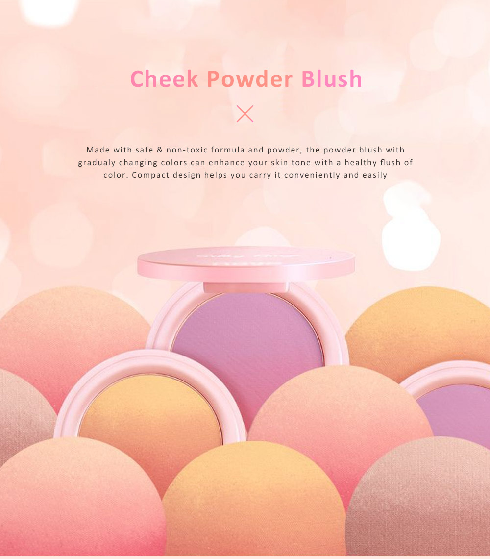 Cheek Powder Blush Professional High Definition Blush Contouring Blusher Makeup Box 0