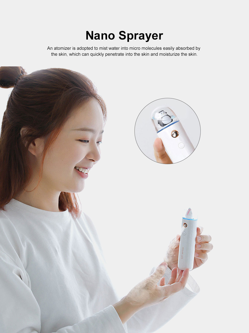 Nano Sprayer for Face Caring Summer Refreshing Set, Portable USB Charging Mini Fan and Facial Sprayer 4