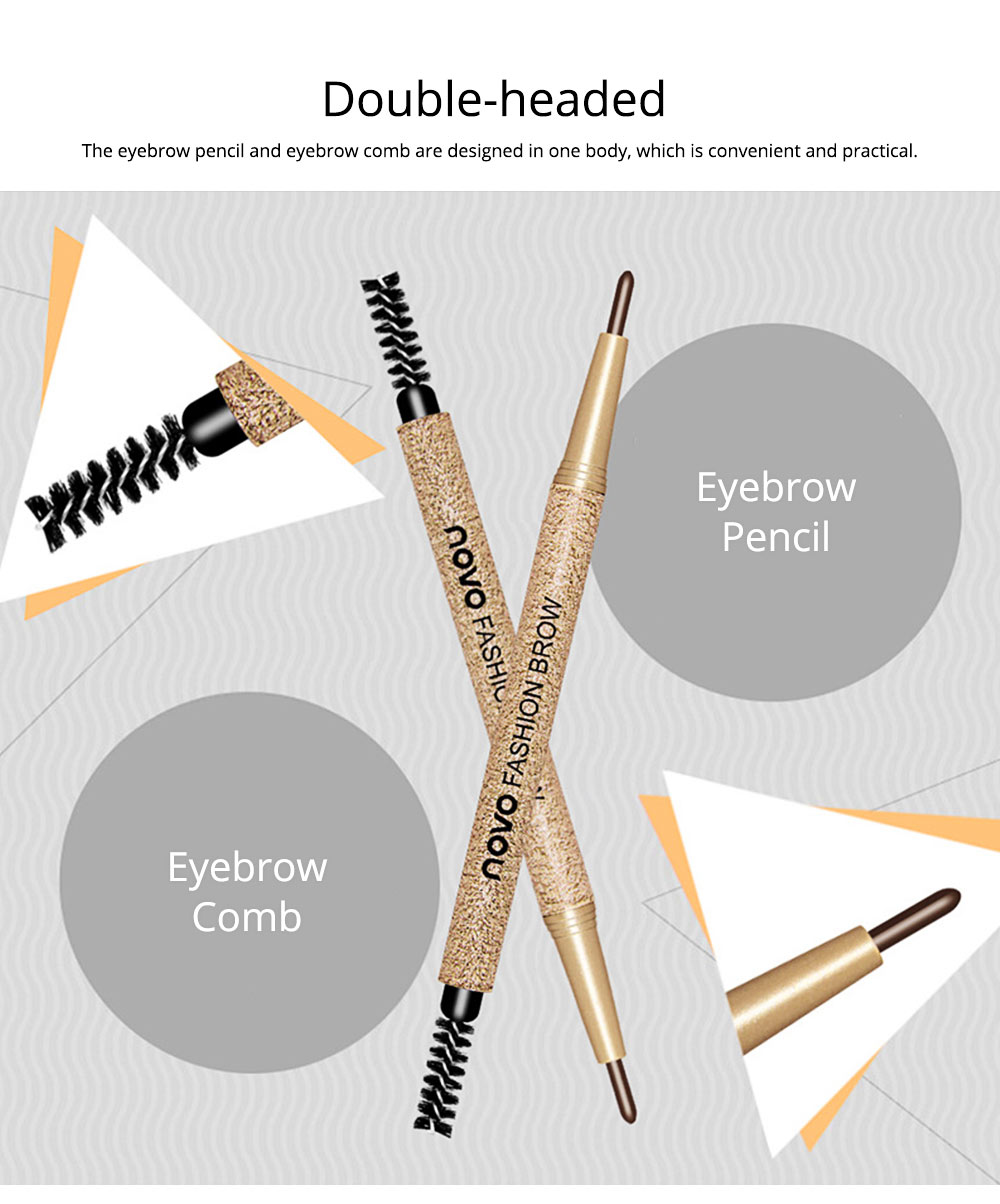 Automatically Rotate Eyebrow Pencil for Beginners Double-headed Lasting Waterproof  Cosmetics Makeup Tool With FREE 3PCS Eyebrow Card Replacement Core 6